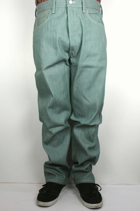 LEVI'S / 501 DENIM PANTS / grey green rigid