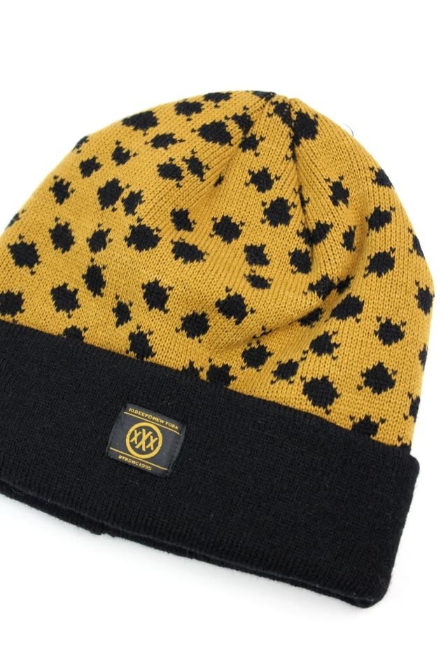 "10DEEP / ""CHEETAH"" BEANIE / golden yellow×black"