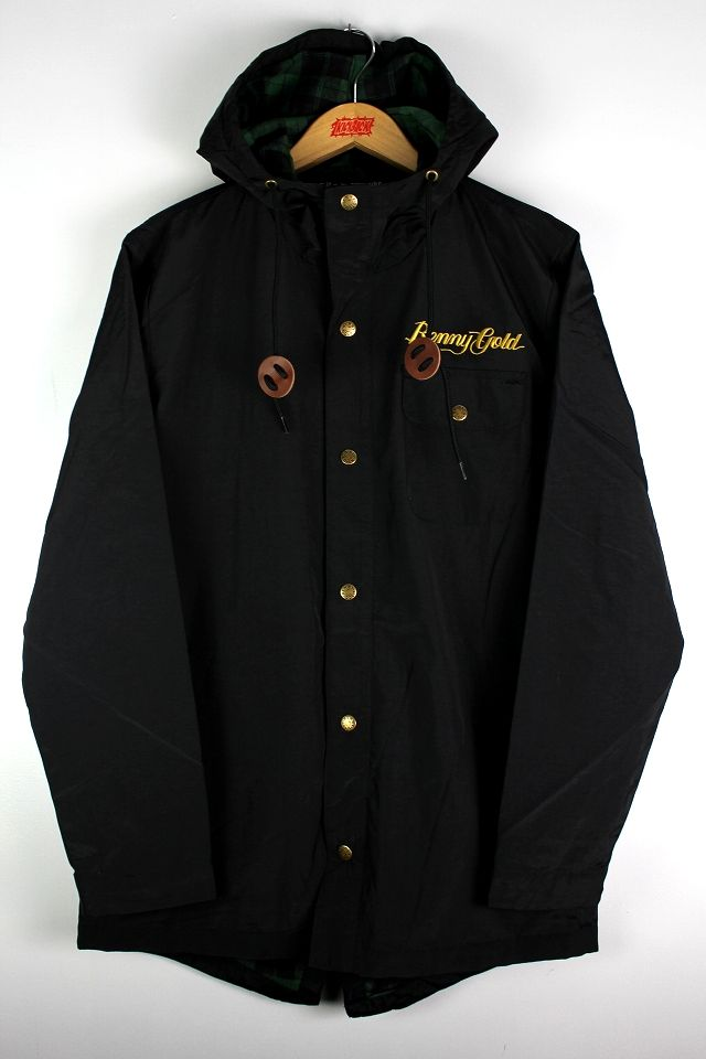 "BENNY GOLD / ""RICHMOND"" FISHTAIL HOODY JACKET / black"