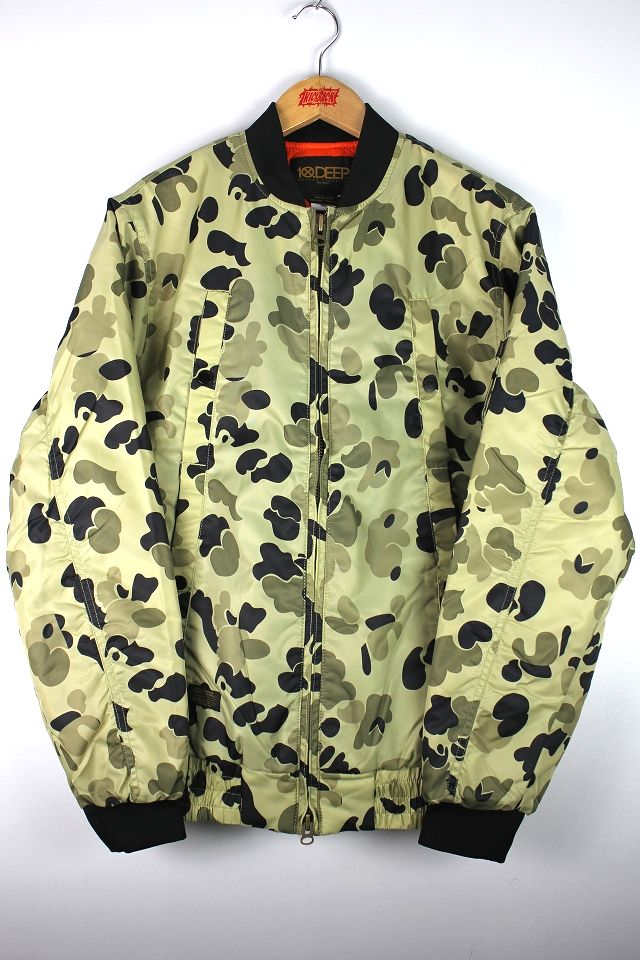 "10DEEP / ""RED TAIL X-1"" AVIATOR JACKET / duck camo×orange"