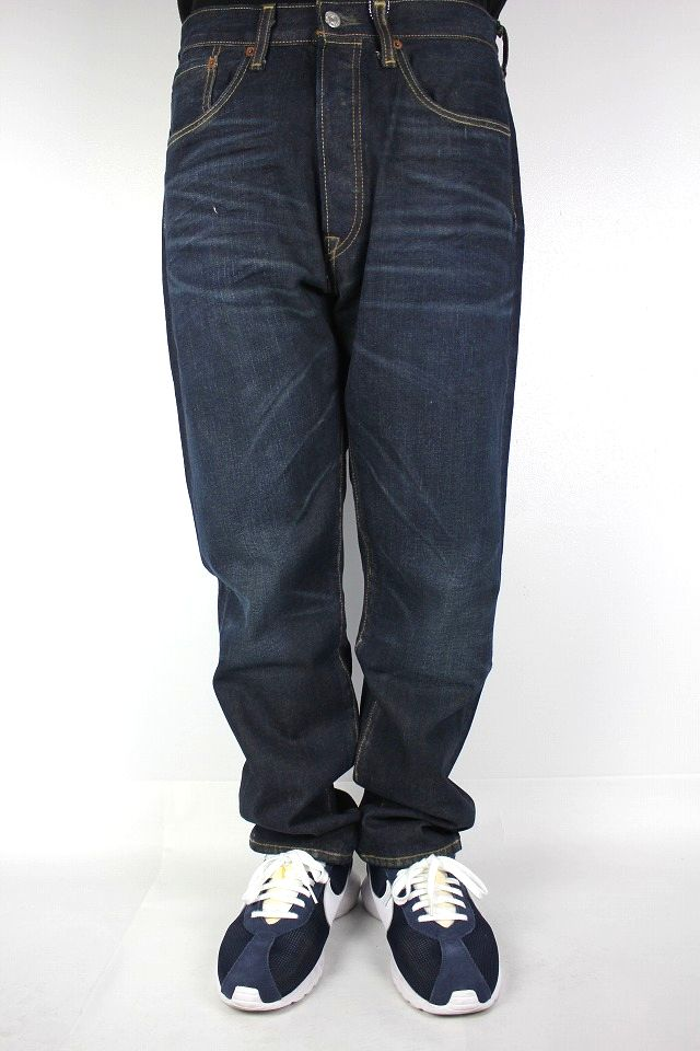 LEVI'S / 501 CUSTOMIZED TAPERED DENIM PANTS / dark indigo