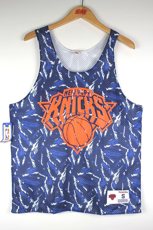 "MITCHELL&NESS / ""NEWYORK KNICKS"" REVERSIBLE MESH TANK TOP / blue⇔white"