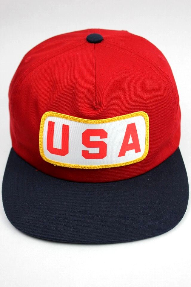 "THE DECADES / ""AMERICAN MADE"" SNAPBACK CAP / red×dark navy"