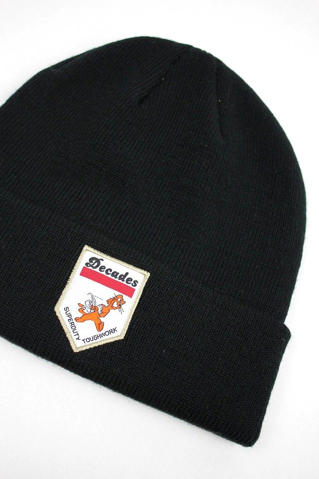 "THE DECADES / ""SUPER DUTY TOUGH WORK"" KNIT BEANIE / black"