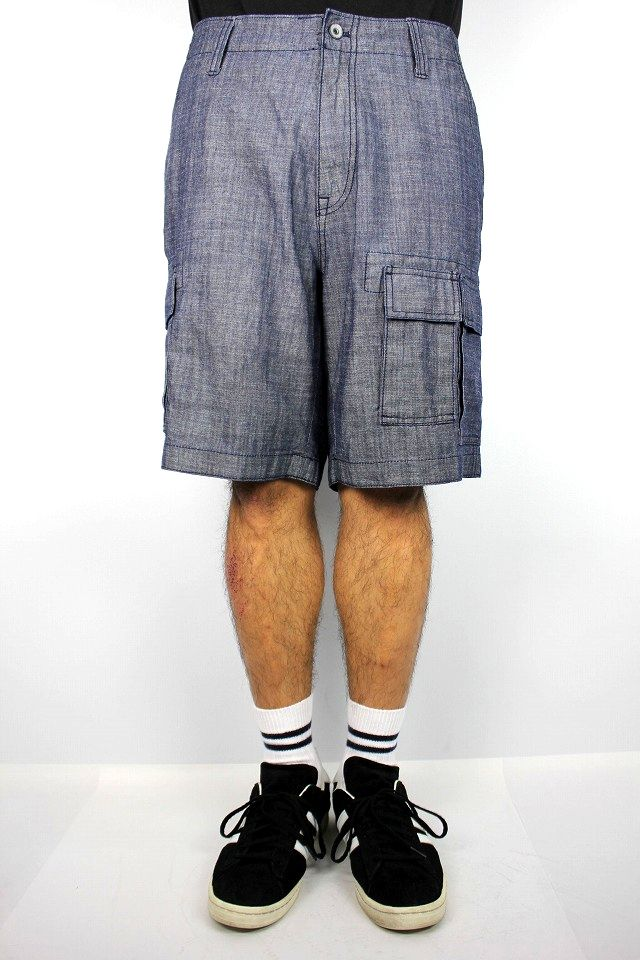 NAUTICA / CHAMBRAY CARGO SHORTS / black indigo