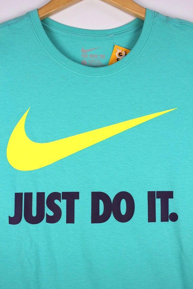 "NIKE / ""JUST DO IT"" Tee / mint"