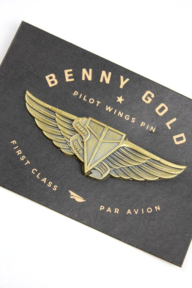 "BENNY GOLD / ""PILOT WINGS"" PIN"