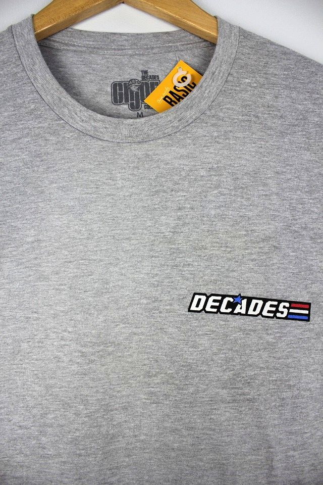 "THE DECADES×G.I.JOE / ""G.I.JOE LOGO"" Tee / heather grey"