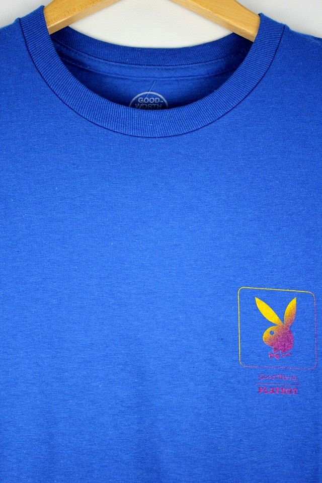 "GOOD WORTH&CO.×PALY BOY / ""GRADIENT BUNNY"" Tee / blue"
