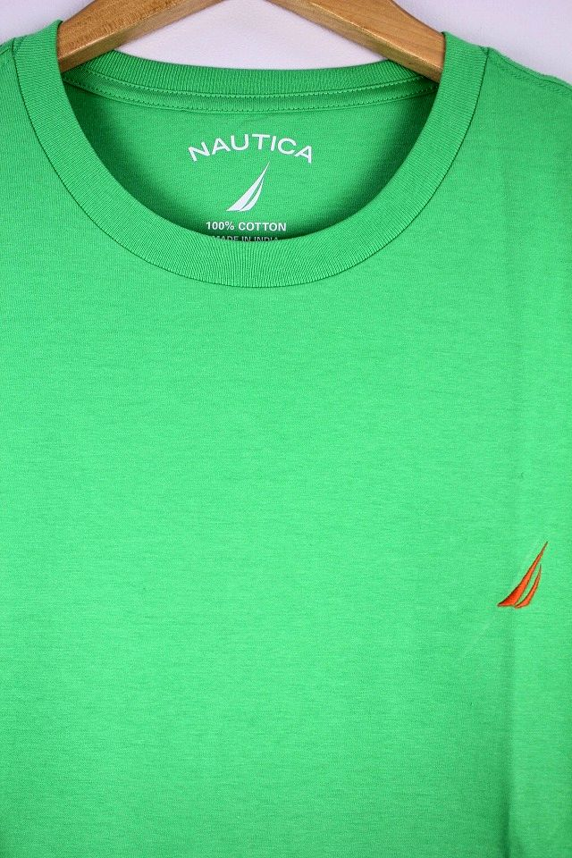 NAUTICA / ONE POINT LOGO Tee / yellow green