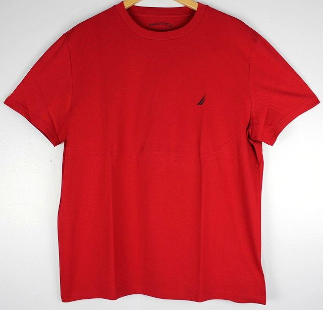 NAUTICA / ONE POINT LOGO Tee / red