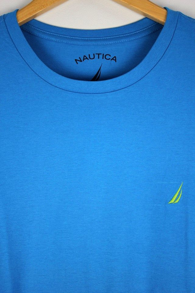 NAUTICA / ONE POINT LOGO Tee / blue