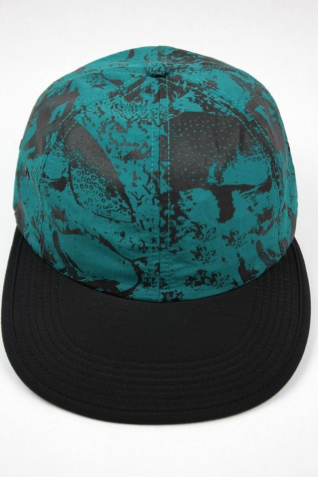 "ONLY NEWYORK / ""UNDER THE SEA"" NYLON 6 PANEL CAP / dark turquoise"