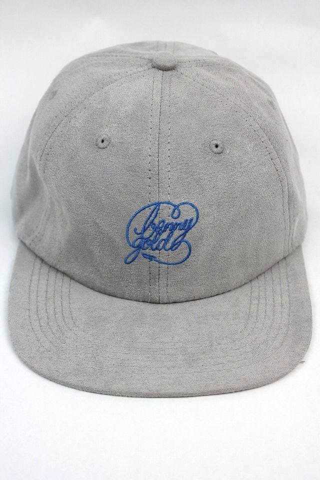 """BENNY GOLD / """"SCRIPT LOGO"""" SUEDE 6PANEL CAP / grey"""