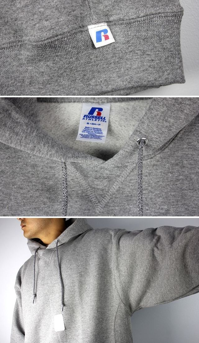 RUSSEL ATHLETIC / PULLOVER HOODY / heather grey