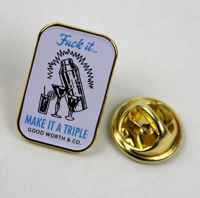 "GOOD WORTH&CO. / ""MAKE IT A TRIPLE"" PIN"
