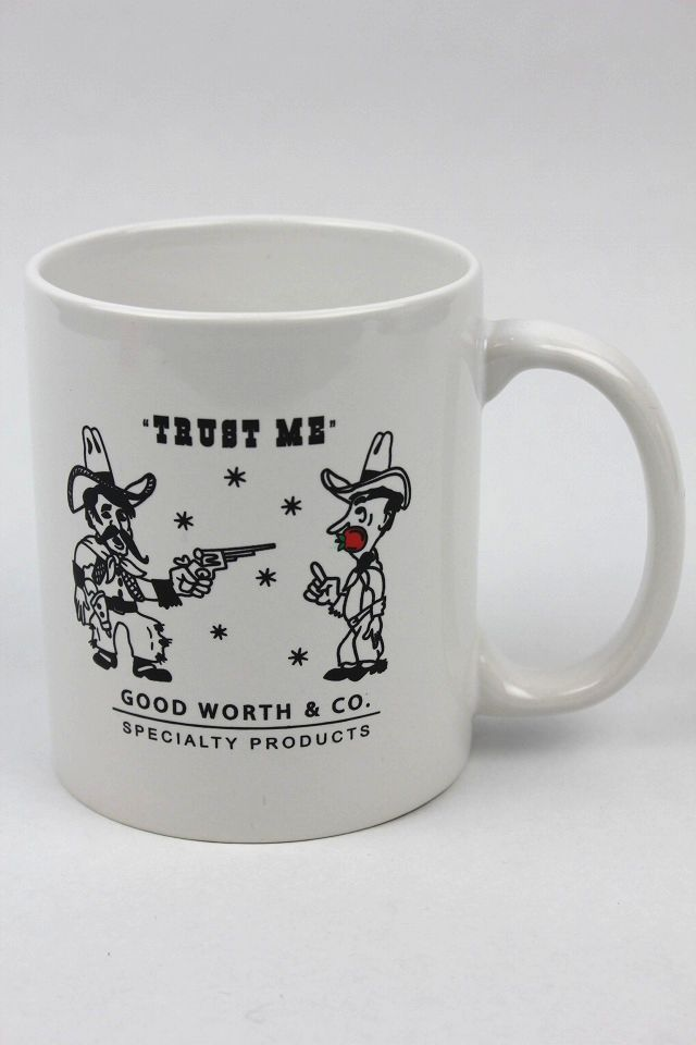 "GOOD WORTH&CO. / ""TRUST ME"" COFFEE MUG / white"