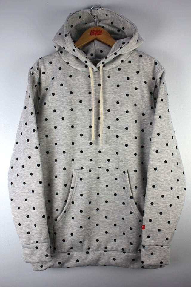"CLSC LIFE / ""DOTS"" PULLOVER HOODY / heather grey"