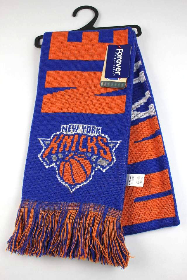 "FOREVER COLLECTABLES / ""NEWYORK KNICKS"" MUFFLER / blue×orange"
