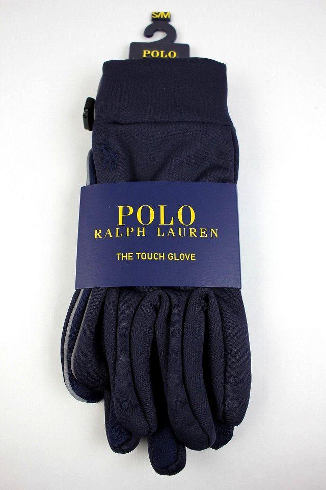 POLO RALPH LAUREN / STRETCH GLOVES / navy