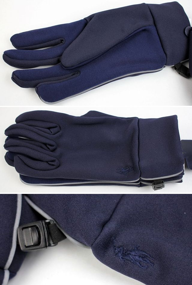 POLO RALPH LAUREN / STRETCH GLOVES / navy