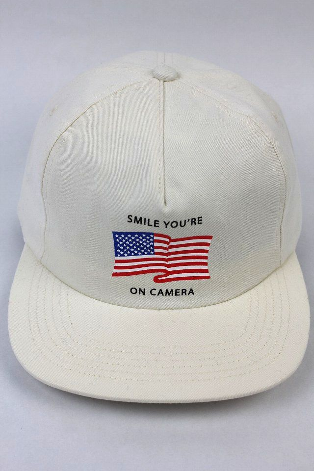 "GOOD WORTH&CO. / ""YOU'RE ON CAMERA"" STRAPBACK CAP / ivory"