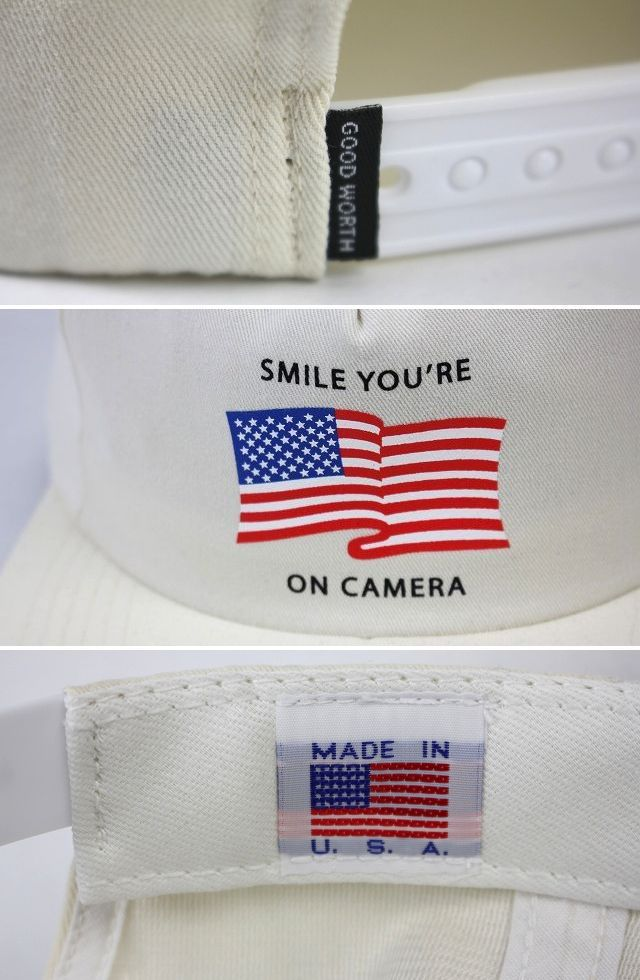 "GOOD WORTH&CO. / ""YOU'RE ON CAMERA"" SNAPBACK CAP / ivory"