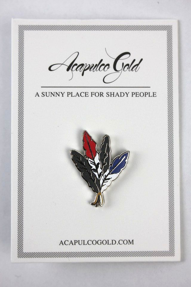 "ACAPULCO GOLD / ""FEATHERS"" PIN"