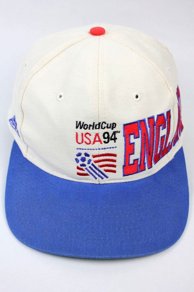 "USED!!! WORLDCUP USA 1994 / ""ENGLAND"" SNAPBACK CAP (90'S) / white×sky blue"