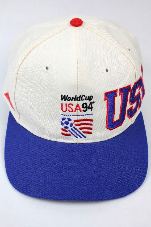 "USED!!! WORLDCUP USA 1994 / ""USA"" SNAPBACK CAP (90'S) / white×royal blue"