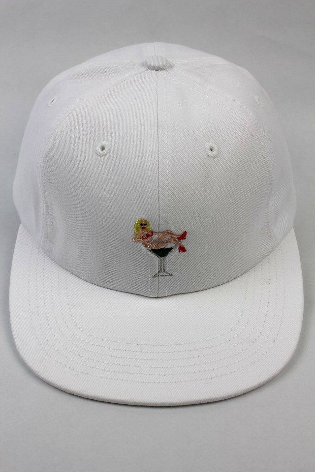 "GOOD WORTH&CO. × KOVSKA / ""MARTINI GIRL"" STRAPBACK CAP / white"