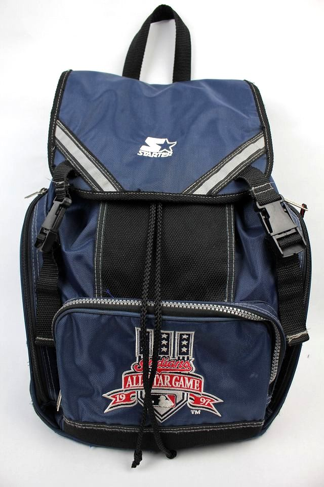 "USED!!! STARTER / ""1997 MLB ALLSTAR GAME"" BACKPACK (90'S) / navy×black"
