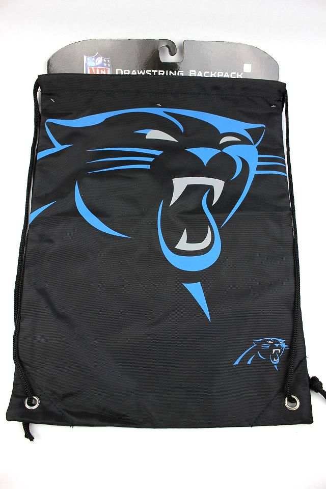 "NFL OFFICIAL / ""CAROLINA PANTHERS"" GYM SACK / black"