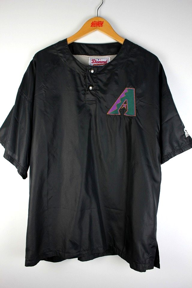 "USED!!! STARTER / ""ARIZONA DIAMONDBACKS"" BULLPEN WARM UP PULLOVER SHIRTS / black"