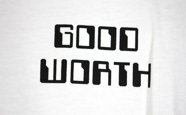 "GOOD WORTH&CO. / ""PROCESS"" Tee / white"