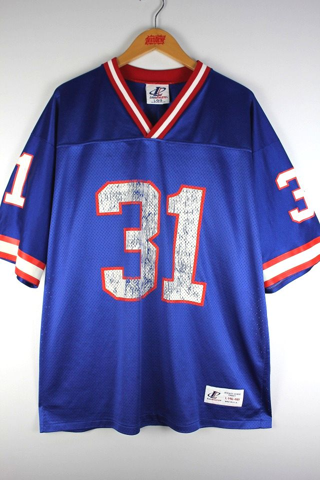 "USED!!! LOGO ATHLETIC / ""NEWYORK GIANTS"" FOOTBALL JERSEY (90'S) / blue×red×white"