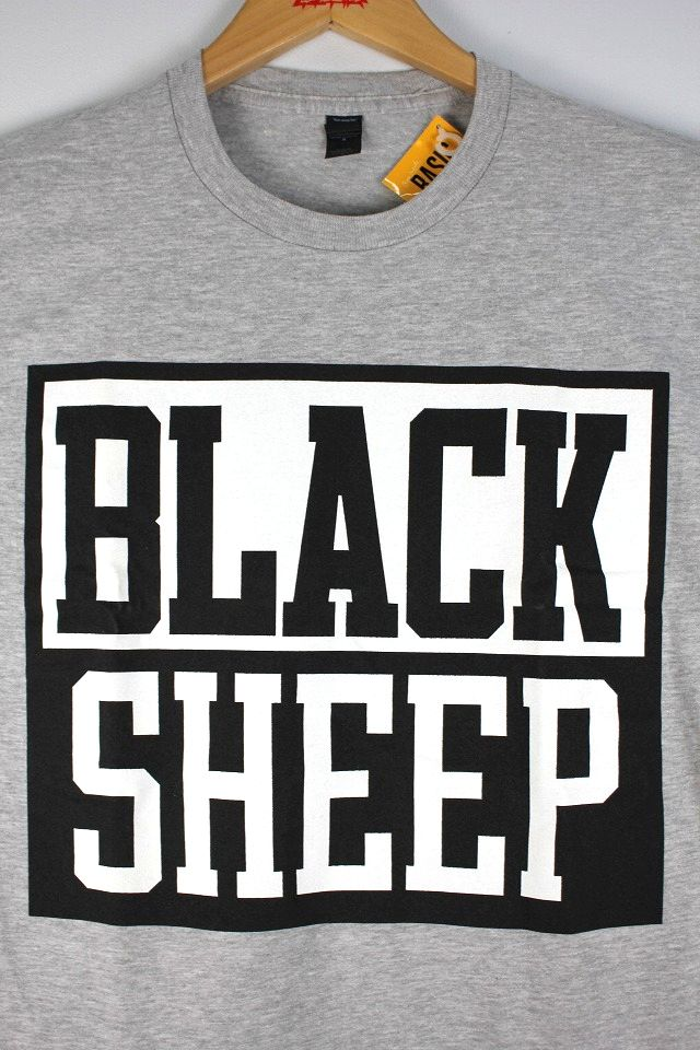 "BLACK SHEEP / ""BLOCK LOGO"" Tee / heather grey"