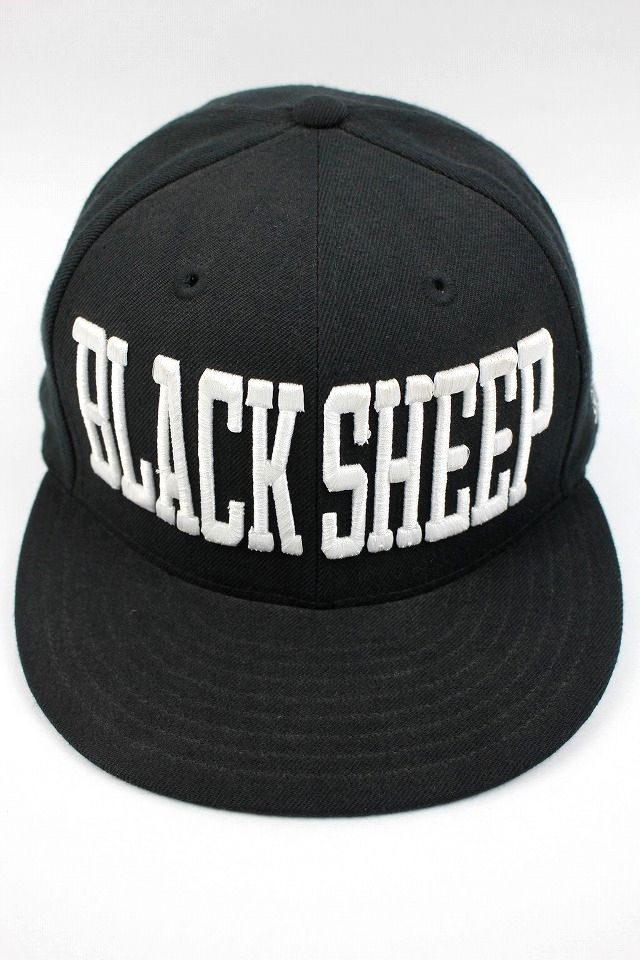 "BLACK SHEEP / ""FULL BLOCK"" FITTED CAP / black×white"