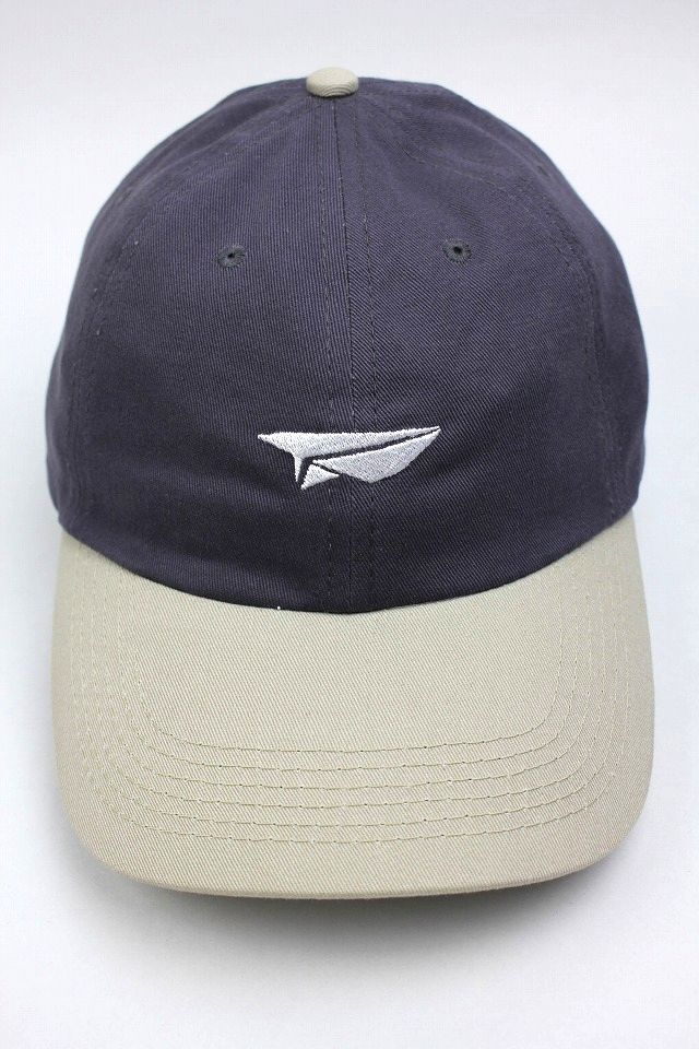 "BENNY GOLD / ""PAPER PLANE"" DAD HAT / chacoal×beige"