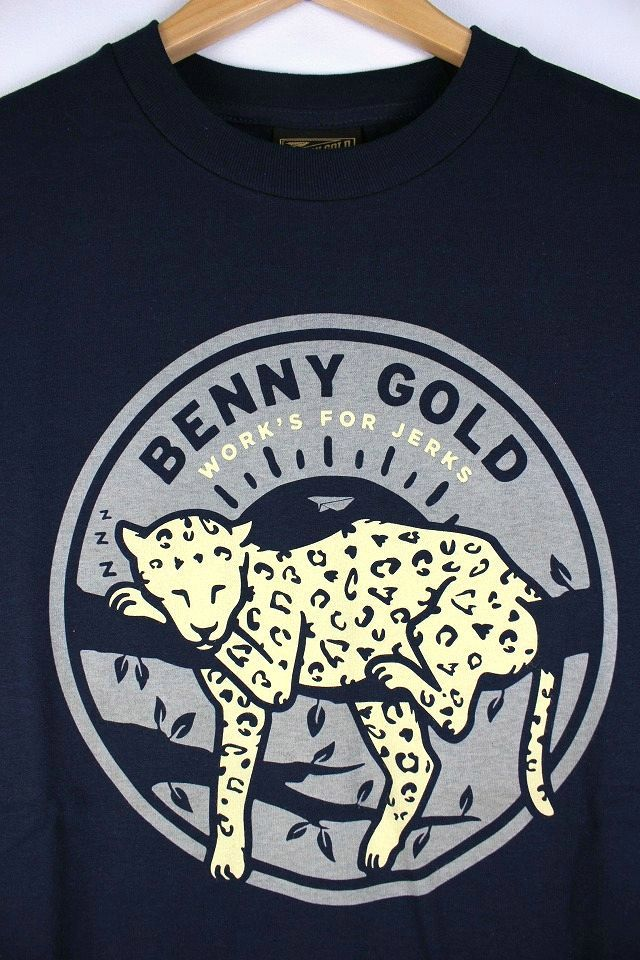 "BENNY GOLD / ""LEOPARD"" Tee / navy"