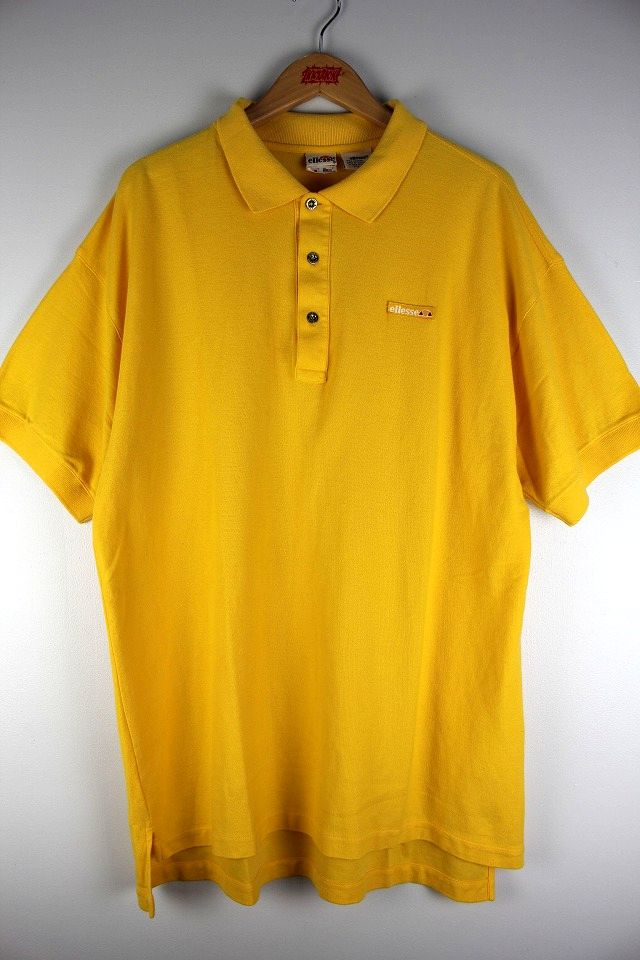 USED!!! ellesse / POLO SHIRTS (90'S) / yellow
