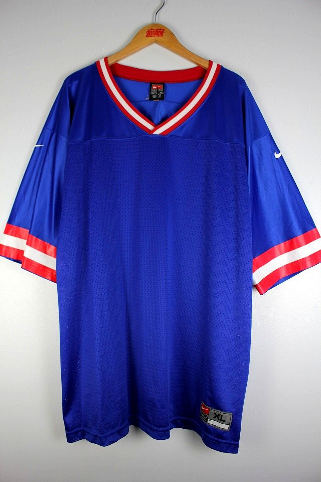 USED!!! NIKE / FOOTBALL JERSEY (90'S) / blue×red×white