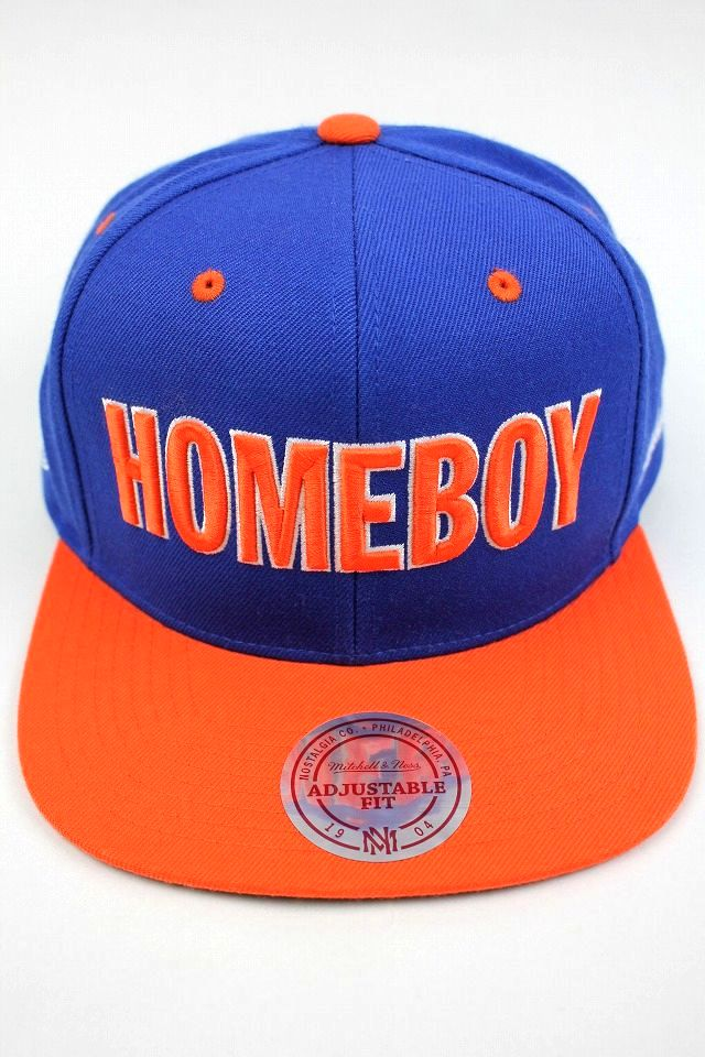 "STONES THROW×MITCHELL&NESS / ""HOMEBOY SANDMAN"" SNAPBACK CAP / blue×orange"
