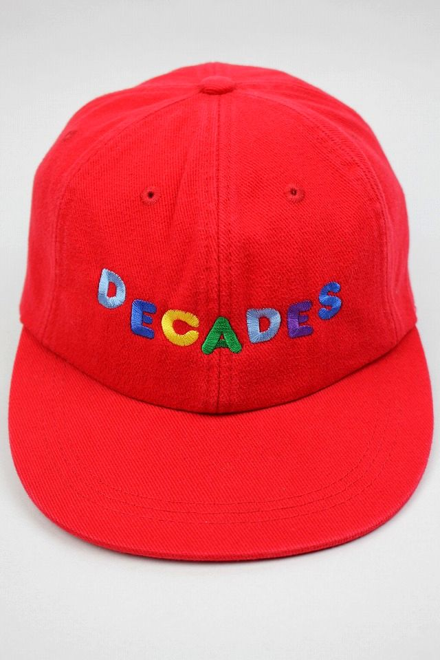 "THE DECADES / ""ELEMENTARY"" 6PANEL CAP / red"