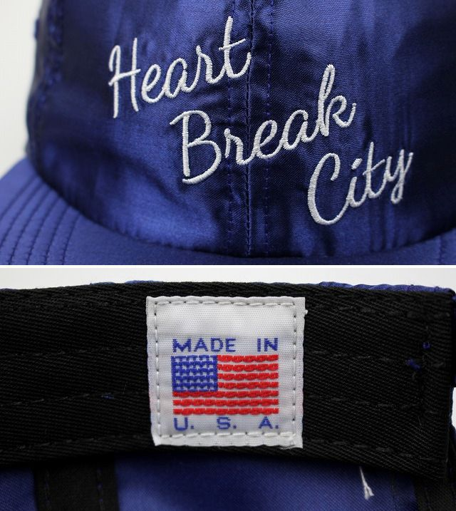 "THE DECADES / ""HEART BEAT CITY"" SATIN 6PANEL CAP / dark blue"