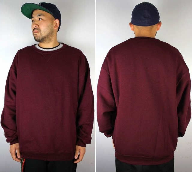 RUSSEL ATHLETIC / CREWNECK SWEAT / burgundy