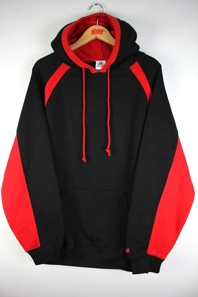 BUDGER SPORT / HOOK PULLOVER SWEAT HOODY / black×red