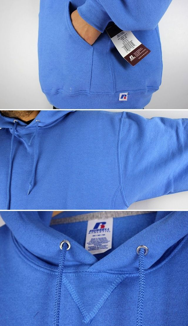 RUSSEL ATHLETIC / PULLOVER HOODY / light blue