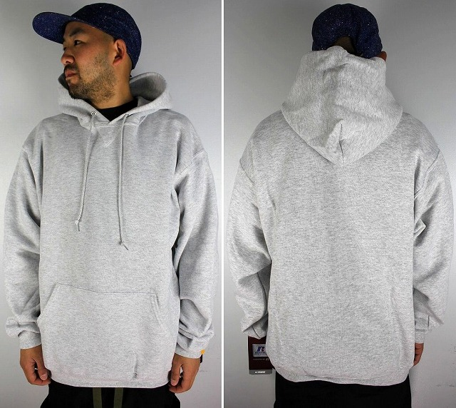 RUSSEL ATHLETIC / PULLOVER HOODY / light heather grey