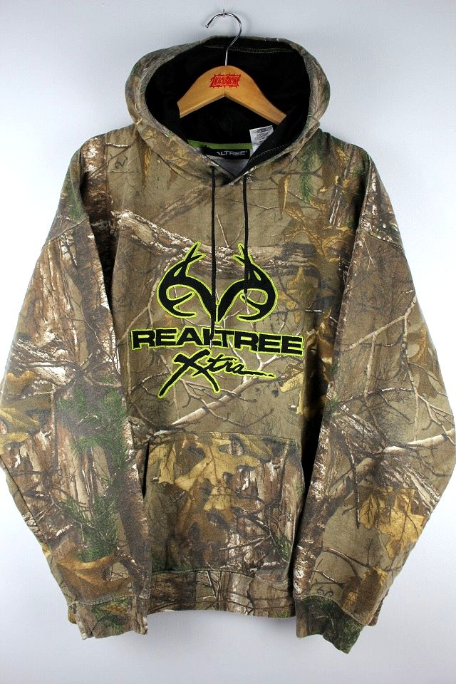 USED!!! REALTREE / REALTREE CAMO PULLOVER SWEAT HOODY
